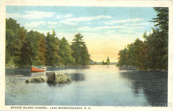 Beaver Island Channel Lake Winnepesaukee New Hampshire