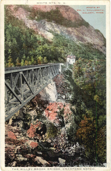 The Willey Brook Bridge, Crawford Notch White Mountains New Hampshire
