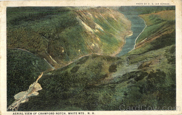 Aerial View Of Crawford Notch White Mountains New Hampshire