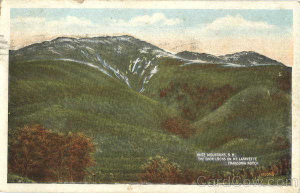 The Snow Cross On Mt. Lafayette , Franconia Notch White Mountains New Hampshire