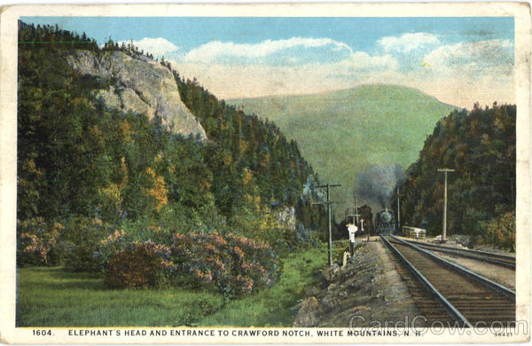 Elephant's Head And Entrance To Crawford Notch White Mountains New Hampshire