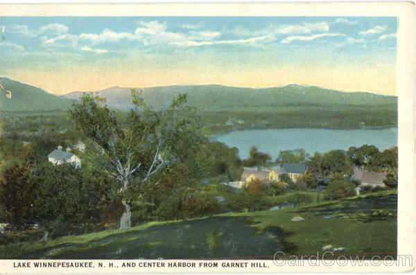 Center Harbor From Garnet Hill Lake Winnepesaukee New Hampshire