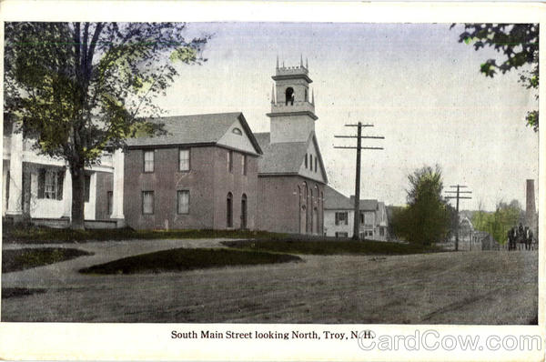 South Main Street Looking North Troy New Hampshire