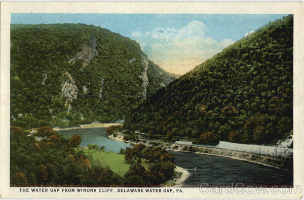 The Water Gap From Winona Cliff Delaware Water Gap Pennsylvania