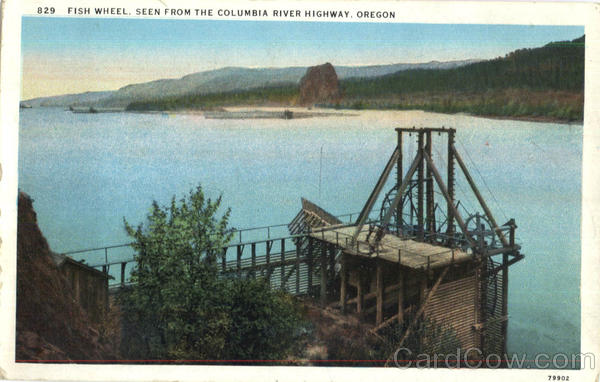 Fish Wheel Columbia River Highway Oregon