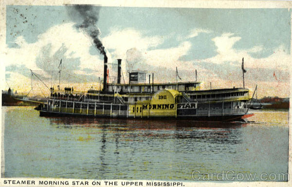 Steamer Morning Star On The Upper Mississippi Riverboats