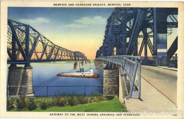 Memphis And Harrahan Bridges Tennessee
