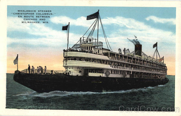 Whaleback Steamer Christopher Columbus Boats, Ships