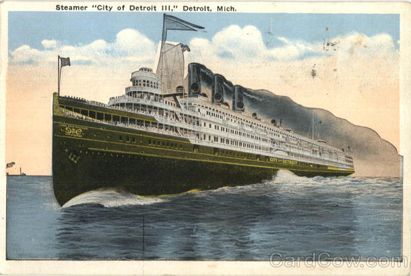 Steamer City Of Detroit Iii Michigan