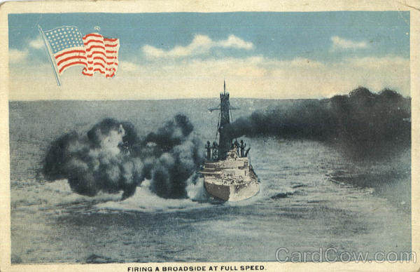 Firing A Broadside At Full Speed Boats, Ships
