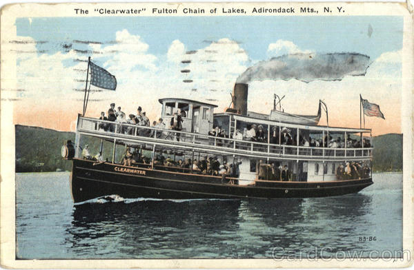 The Clearwater Fulton Chain Of Lakes Adirondack Mountains New York