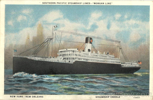 Southern Pacific Steamship Lines Morgan Line Steamers