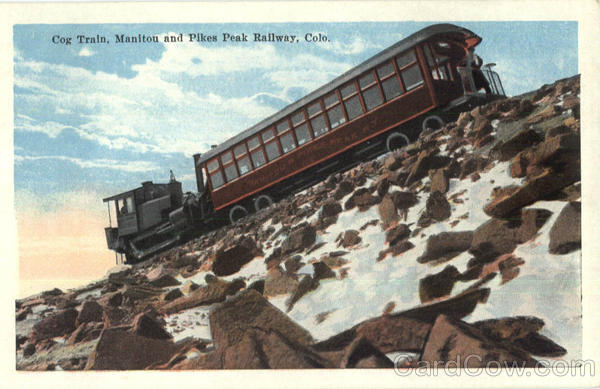 Cog Train Pikes Peak Colorado
