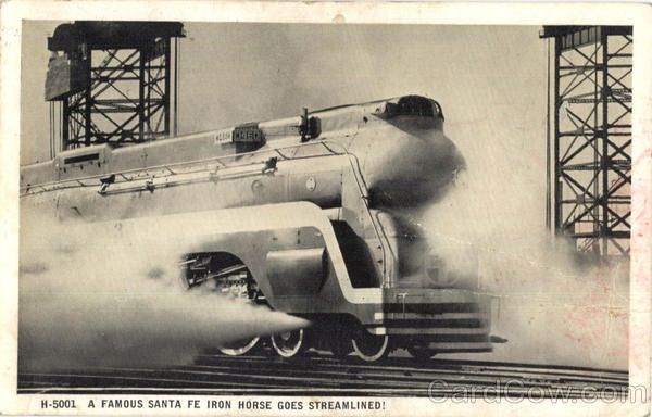 A Famous Santa Fe Irion Horse Goes Streamlined Locomotives
