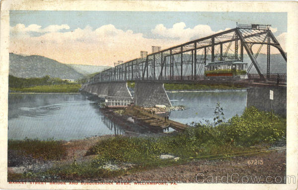Market Street Bridge And Susquehanna River Williamsport Pennsylvania