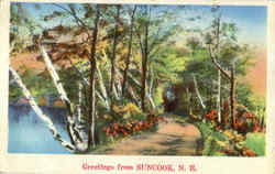 Greetings From Suncook Postcard