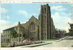 Beeson Avenue And Asbury M. E. Church Postcard