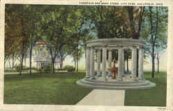 Fountain And Band Stand, City Park Postcard