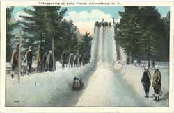 Tobogganing At Lake Placid