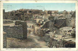 Hopi Indian Pueblo Postcard