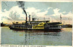 Steamer Morning Star On The Upper Mississippi