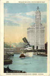 Wrigley Building And Excursion Boat