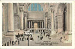 Interior Of Pennsylvania Railroad Station