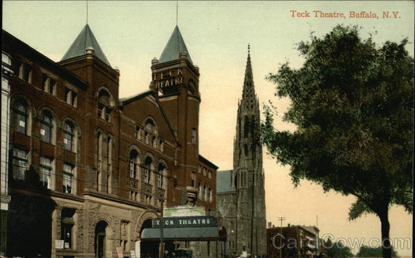 Teck Theatre with Church in the Background Buffalo New York