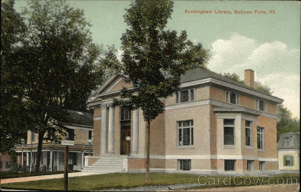 Rockingham Library Bellows Falls Vermont