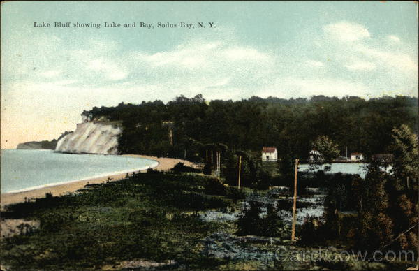 Lake Bluff showing Lake and Bay Sodus Bay New York