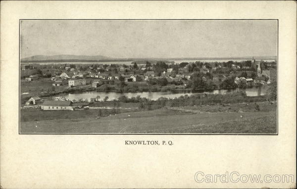 Panoramic View of Town Knowlton Canada Quebec