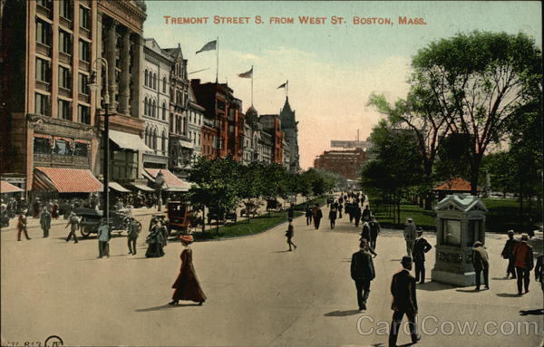 Tremont Street S. From West St. Boston Massachusetts