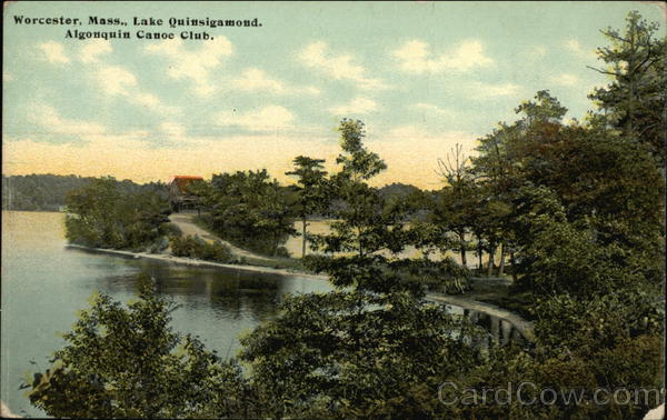 Lake Quinsigamond, Algonquin Canoe Club Worcester Massachusetts
