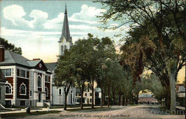 Public Library and South Main St. Rochester New Hampshire