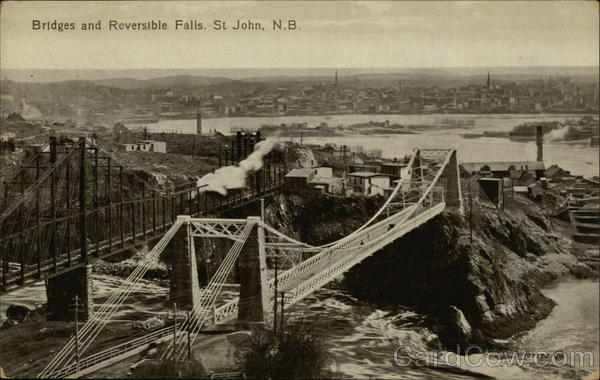 Bridges and Reversible Falls Saint John Canada New Brunswick