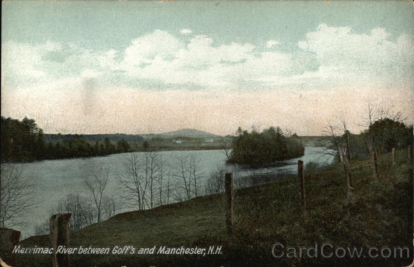 Banks of the Merrimac River Manchester New Hampshire