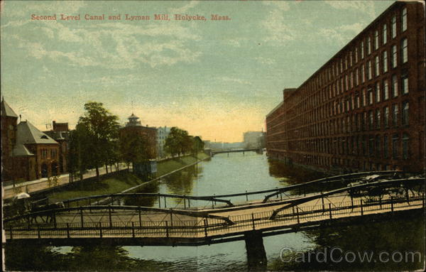 Second Level Canal and Lyman Mill Holyoke Massachusetts