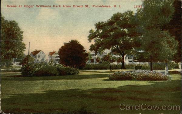 Roger Williams Park from Broad Street Providence Rhode Island