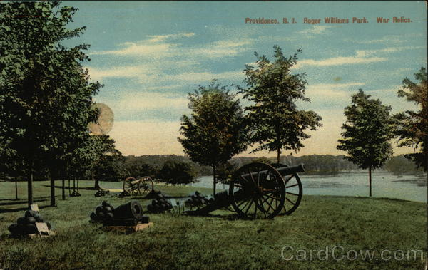 Roger Williams Park. War Relic Providence Rhode Island