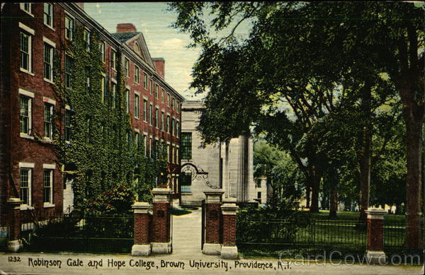 Robinson Gate and Hope College, Brown University Providence Rhode Island