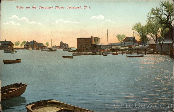 View on the Pawtuxet River Rhode Island