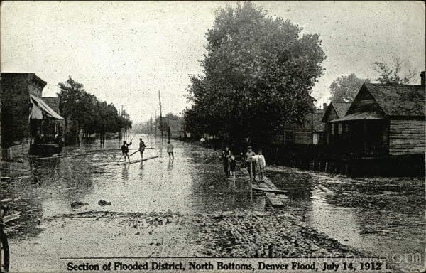 Section of Flooded District, North Bottoms, Denver Flood, July 14, 1912 Colorado