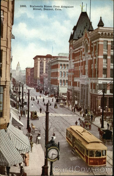 Sixteenth Street from Arapahoe Street Denver Colorado