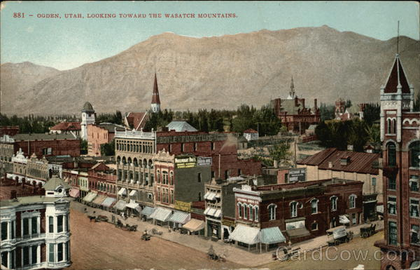 Town View, Looking toward the Wasatch Mountains Ogden Utah