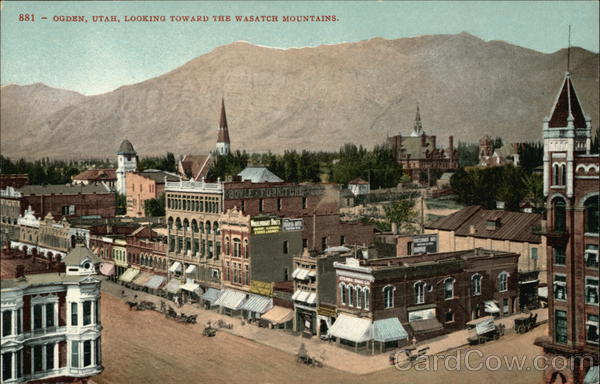 View of Town Looking Toward the Wasatch Mountains Ogden Utah