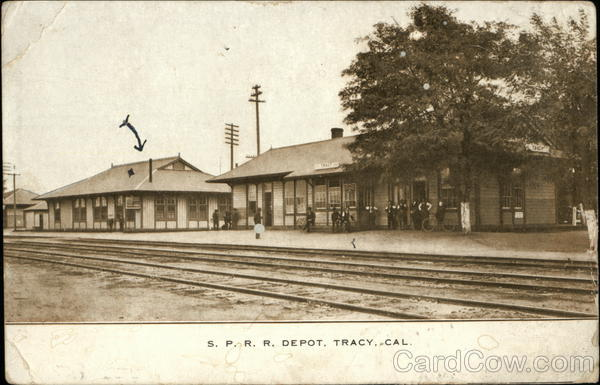 S.P.R.R. Depot Tracy California