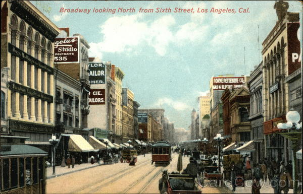 Boadway looking North from Sixth Street Los Angeles California