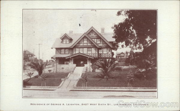 Residence of George A. Leighton, 2427 West Sixth St. Los Angeles California