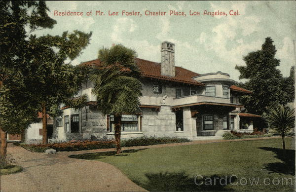 Residence of Mr. Lee Foster, Chester Place Los Angeles California