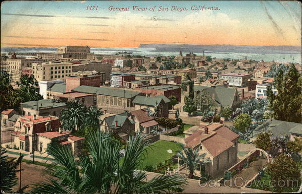 General View of San Diego, California.